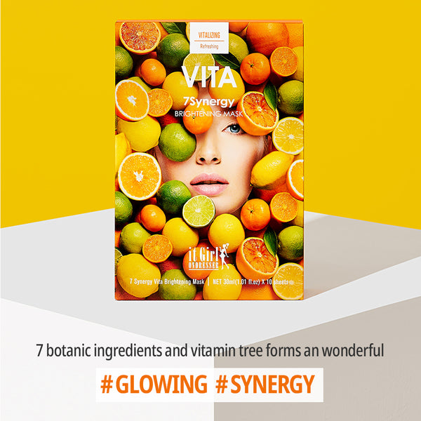 7 Synergy Vita Brightening Mask 10 Sheets