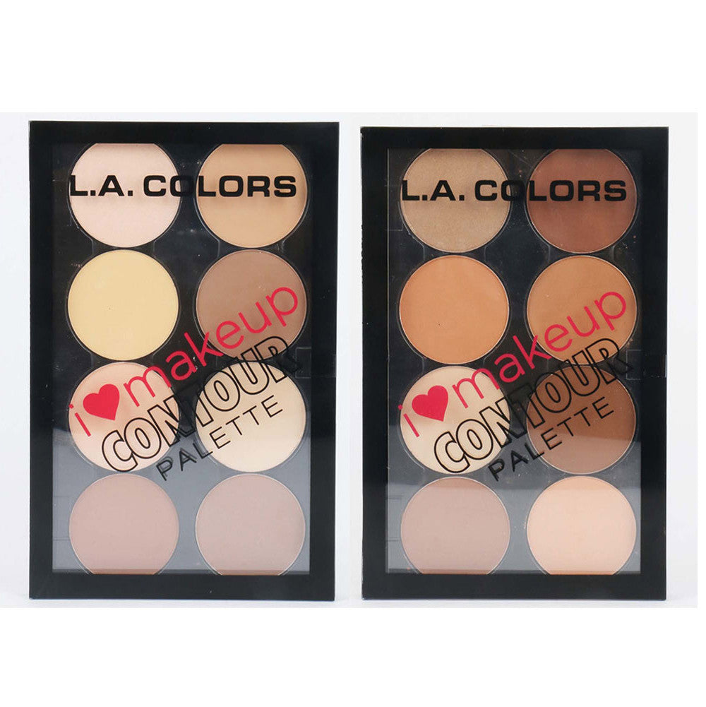 L.A. COLORS I Heart Makeup Contour Palette C30352 Light to Medium & C30353 Medium to Deep wholesale - Cosmeticholic