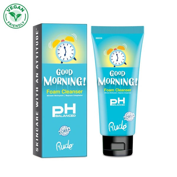 Rude 88020 : Good Morning! PH Balanced Foam Cleanser Wholesale-Cosmeticholic