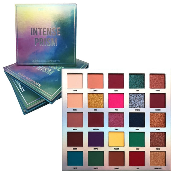 MG-674 : Malibu Glitz-Intense Prism 25 Color Makeup Palette 6 PC