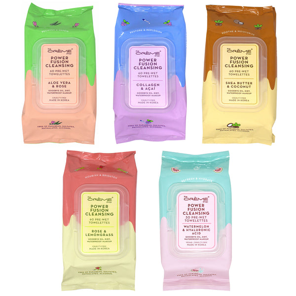 The Creme Shop Power Fusion Cleansing 60 Pre-Wet Towelettes Cosmetic Wholesale-Cosmeticholic