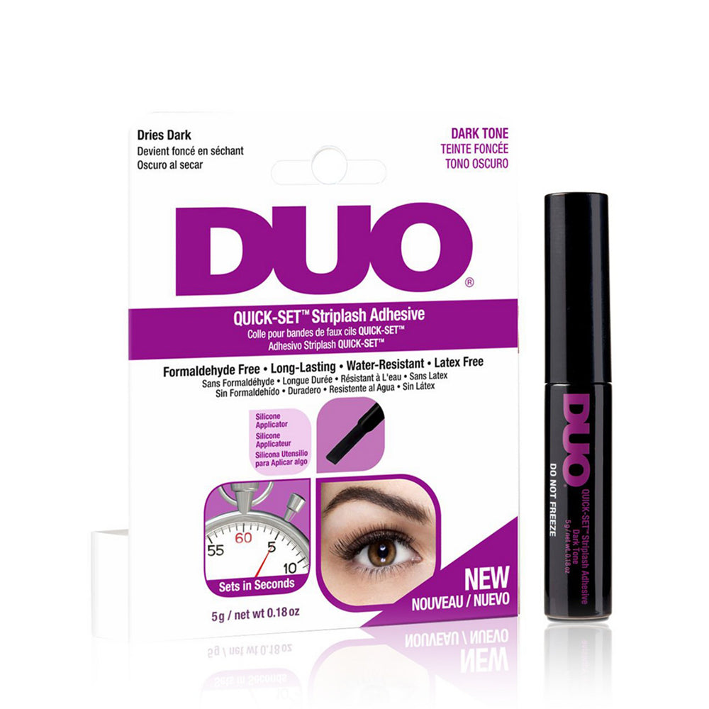 DUO-67582 : Quick-Set Striplash Adhesive Dark Tone 6 PC