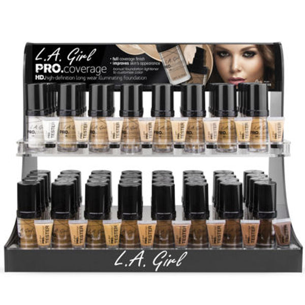 GCD253.1 LA Girl Pro Coverage Illuminating Foundation Display Set Wholesale-Cosmeticholic