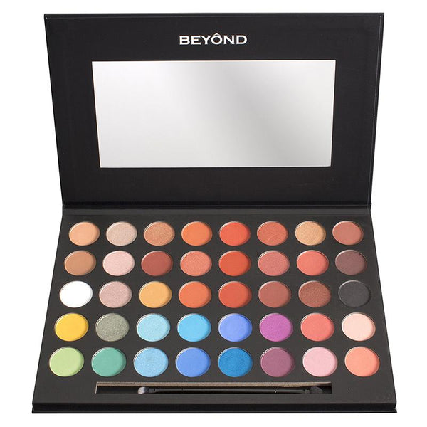 "BD-EEP01 : ""Everglow"" 40 Colors Shimmer & Matte Highly Pigment Eyeshadow Palette 3 PC"
