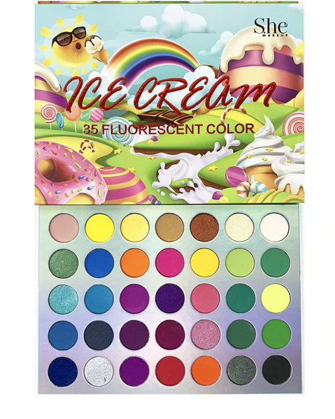 SH-SP03 : Ice Cream-35 Fluorescent Color Shadow palette 6 PC