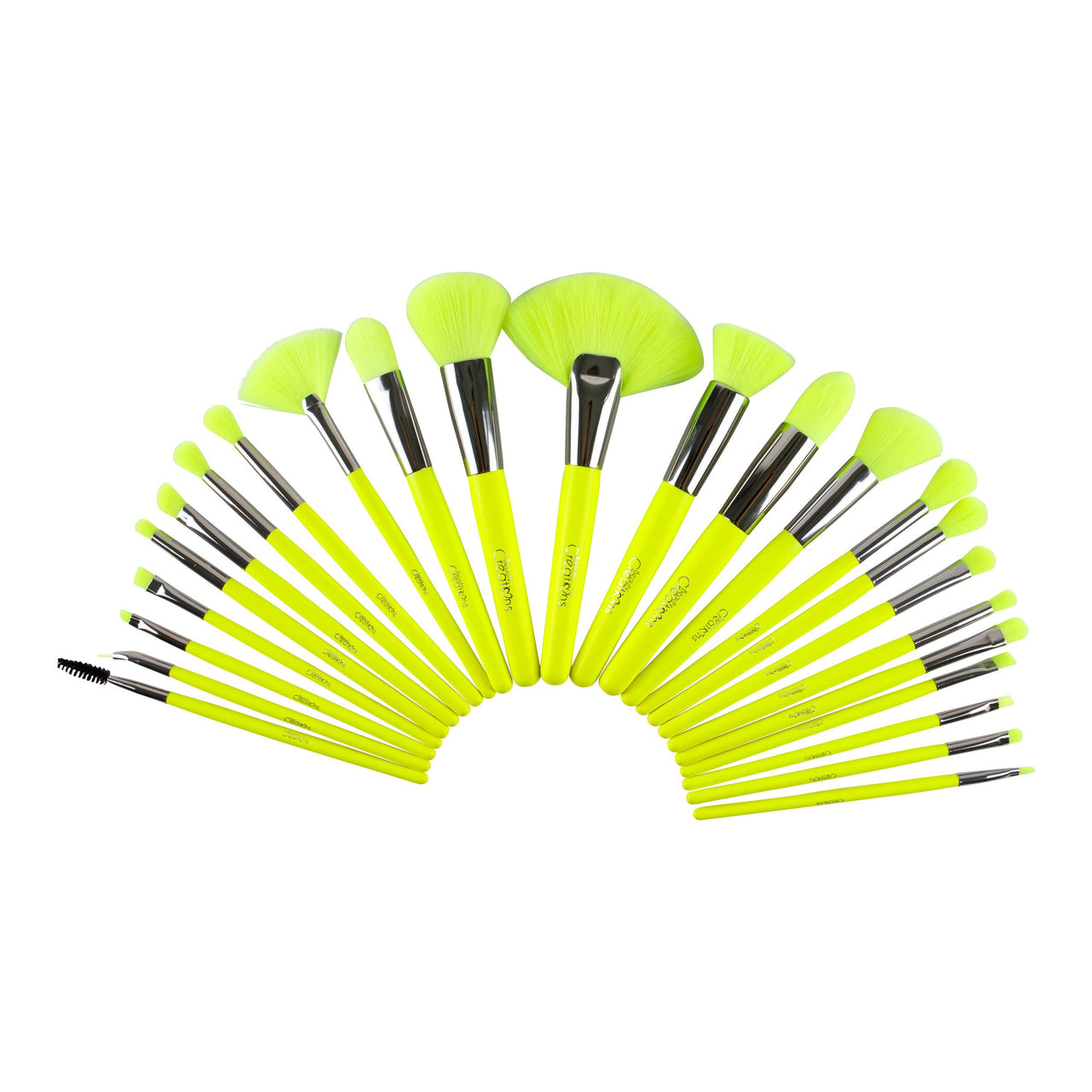 BC-B24NY : The Neon Yellow 24 Piece Brush Set 3 PC