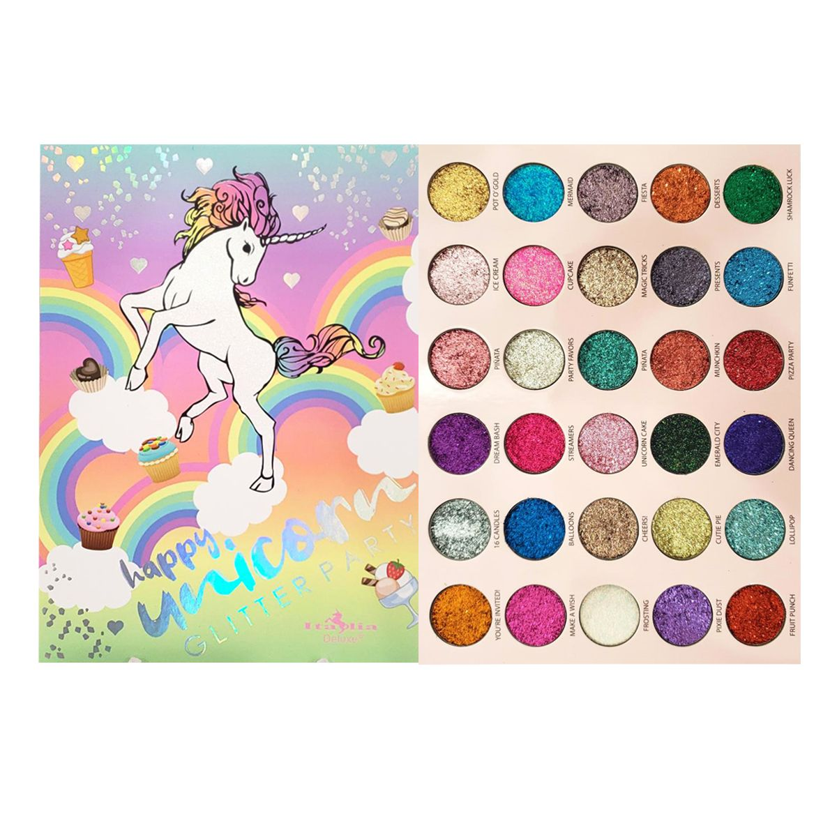 ITA-2030UGP : Happy, Unicorn Glitter Party Palette 6 PC
