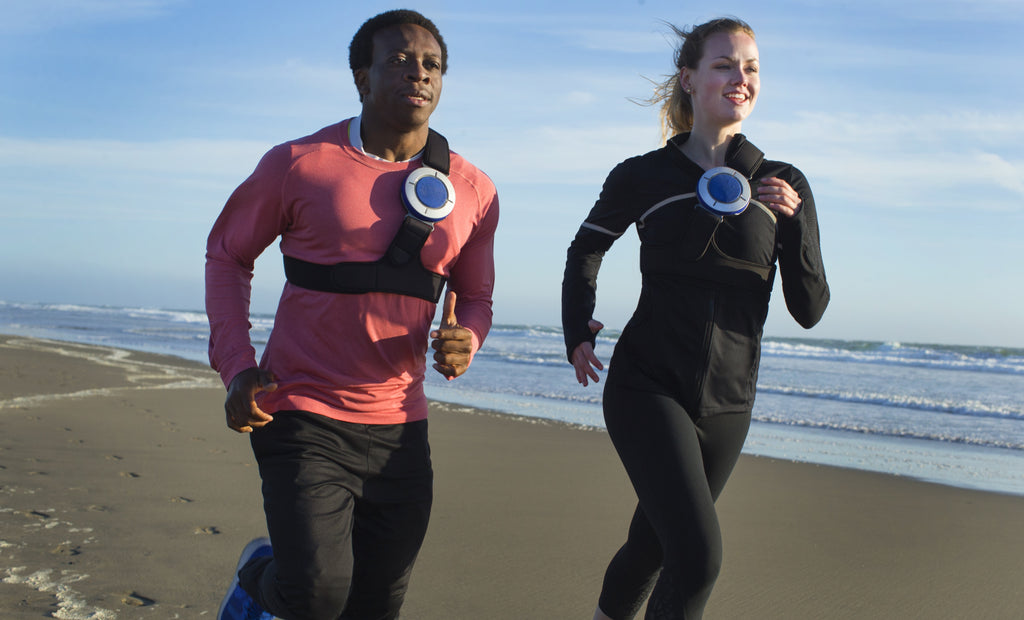 CORE wearable speaker, go for a run on the beach