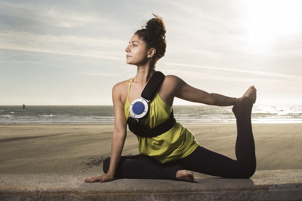 CORE Wearable Speaker, perfect for beach yoga