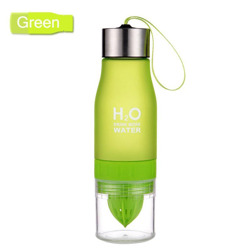 Elegance Store Water Bottle Green H²O Fruit Infusion Water Bottle -FREE SHIPPING!