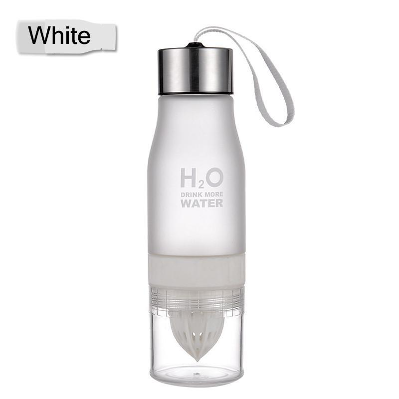 Elegance Store Water Bottle White H²O Fruit Infusion Water Bottle -FREE SHIPPING!
