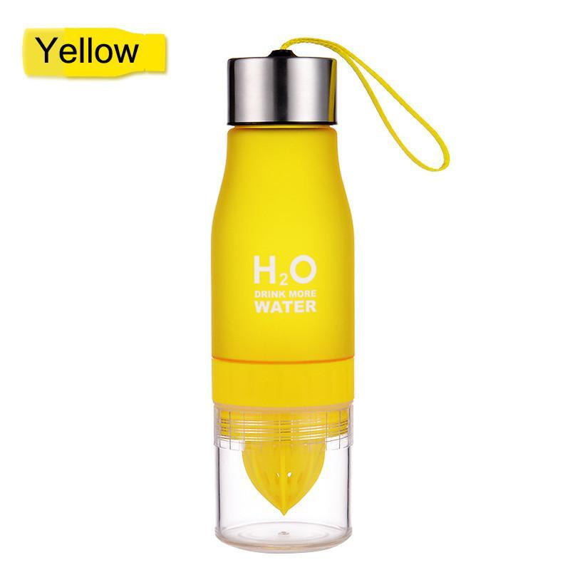 Elegance Store Water Bottle Yellow H²O Fruit Infusion Water Bottle -FREE SHIPPING!