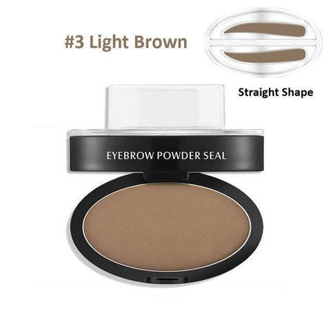 Elegance Store Women Light Brown Straight Shape Eyebrow Stamp - Free Shipping!