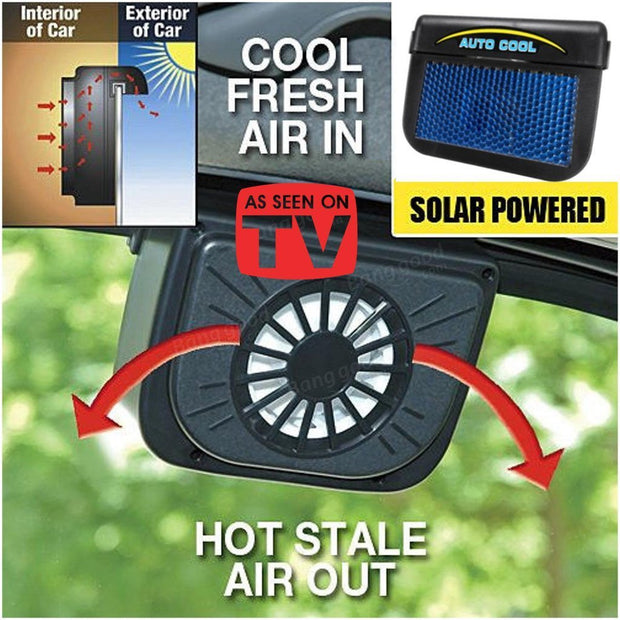 The Elegance Store Autocool solar 2 Pack (Off-60%) Autocool Solar Powered Fan