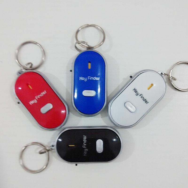 The Elegance Store Car Auto Anti-Lost Wireless Key Ring Finder Locator Keychain Whistle Sound LED Light Torch controlled Sound Electronic New