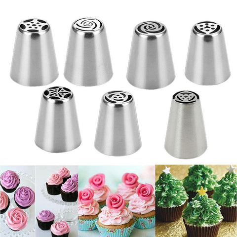 The Elegance Store flower 1 Piece 50% Off HappyBakes Flower Nozzles 7 Pieces.