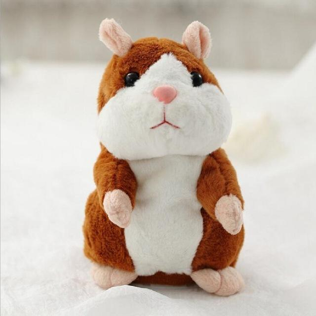 The Elegance Store Hamster Brown Little Talking Hamster Plush Toy