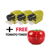 The Elegance Store sharpener BUY 3 GET 1 Tomato Timer Cordless Multifunctional Electric Sharpener