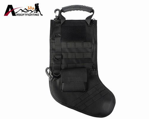The Elegance Store stocking bag Black Tactical Christmas Stocking Bag