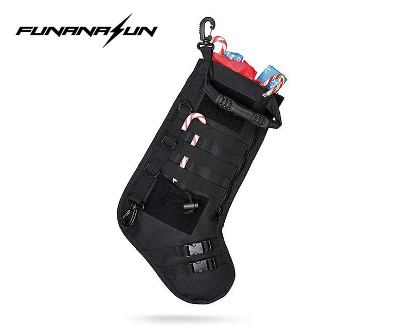 The Elegance Store stocking bag Tactical Christmas Stocking Bag