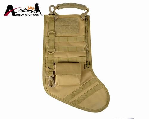 The Elegance Store stocking bag Tan Tactical Christmas Stocking Bag
