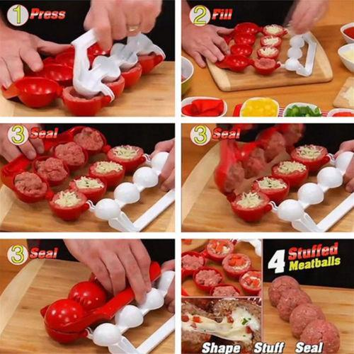 The Elegance Store Stuffed MeatBalls Cooking Stuffed Meatballs Cooking - 50% OFF!