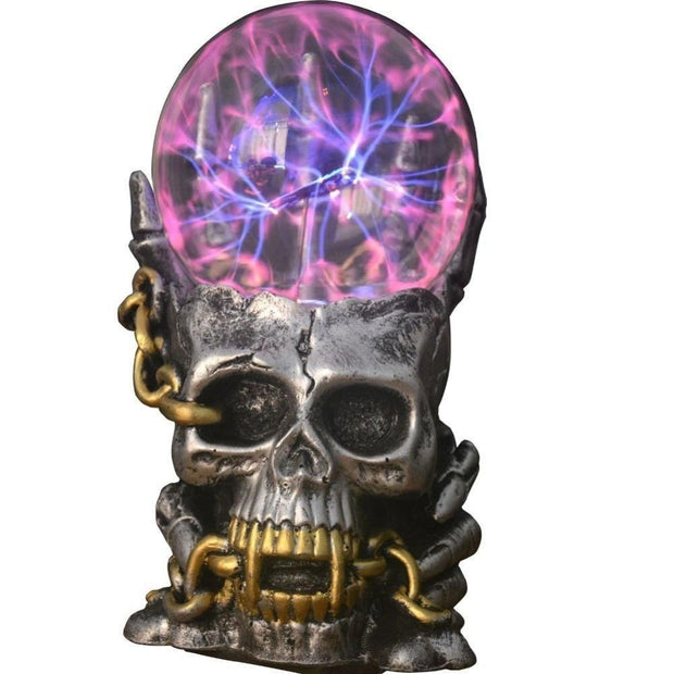 The Elegance Store Treasure, skull, magic Treasure Skull Magic Ball Lamp