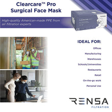 clearcare pro masks for offices manufacturing warehouses schools restaurants retail personal
