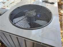 leaf guard installed on outdoor ac unit