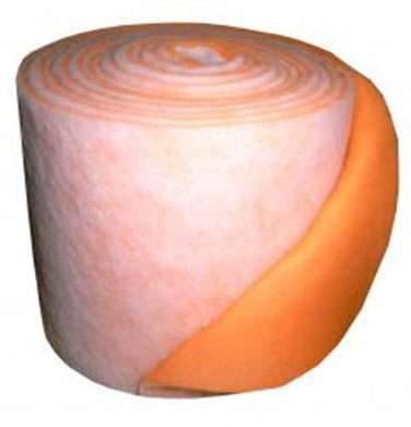 orange / white polyester air filter roll