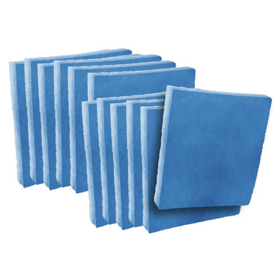 blue / white polyester filter pads media 12 pack