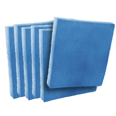 6 pack blue/white polyester pads