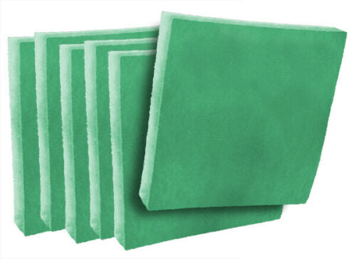6 pack green/white polyester pads