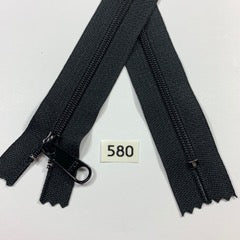YKK zip #4.5 handbag pull 60inch  0580 BLACK IN STOCK