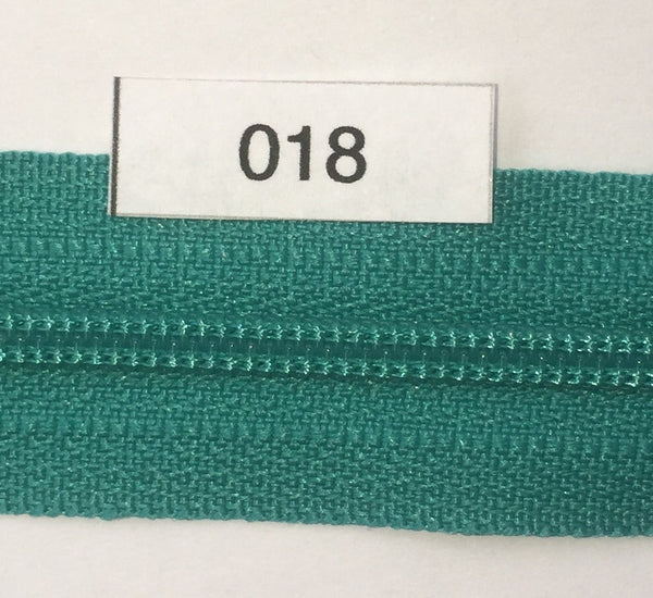 YKK zip #3 RegPull 14in 0018 Turquoise IN STOCK