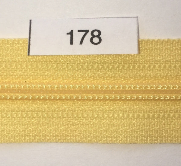 YKK zip #3 RegPull 14in 0178 Popcorn Yellow IN STOCK