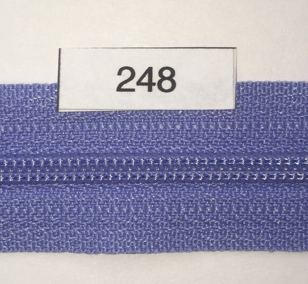 YKK zip #3 RegPull 14in 0248 Periwinkle IN STOCK