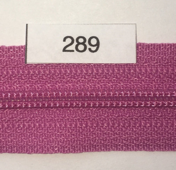 YKK zip #3 RegPull 14in 0289 Fuchsia IN STOCK