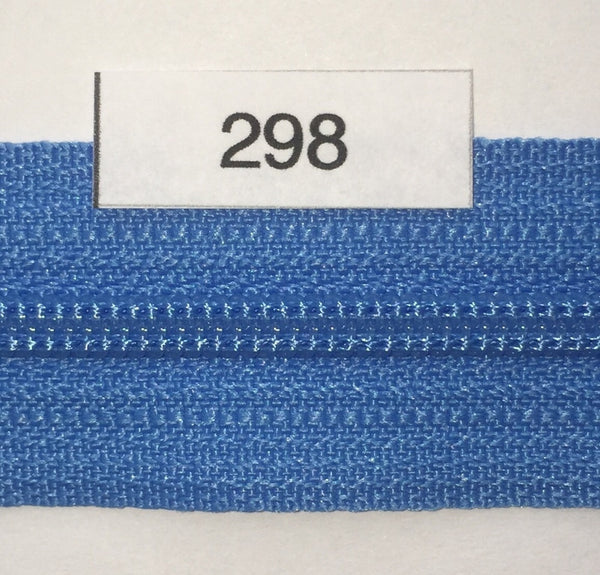 YKK zip #3 RegPull 22in 0298 Bright Blue IN STOCK