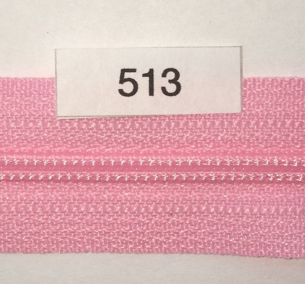 YKK zip #3 RegPull 14in 0513 Bubblegum Pink IN STOCK