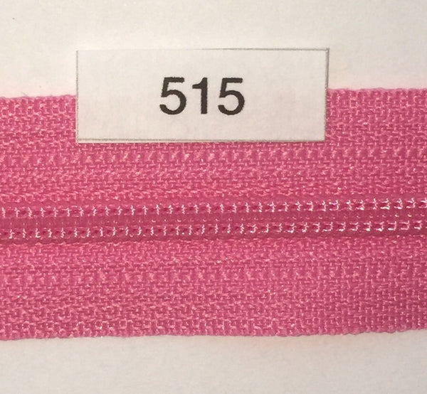 YKK zip #3 RegPull 14in 0515 Princess Pink IN STOCK