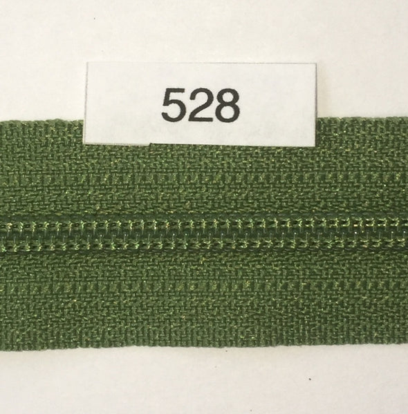 YKK zip #3 RegPull 22in 0528 Moss Green IN STOCK