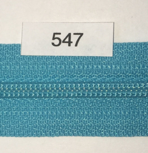 YKK zip #3 RegPull 14in 0547 Parrot Blue IN STOCK