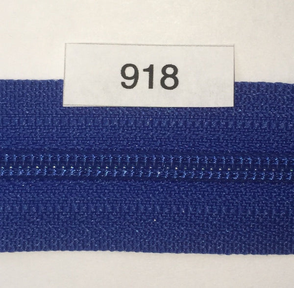 YKK zip #3 RegPull 22in 0918 Royal Blue IN STOCK
