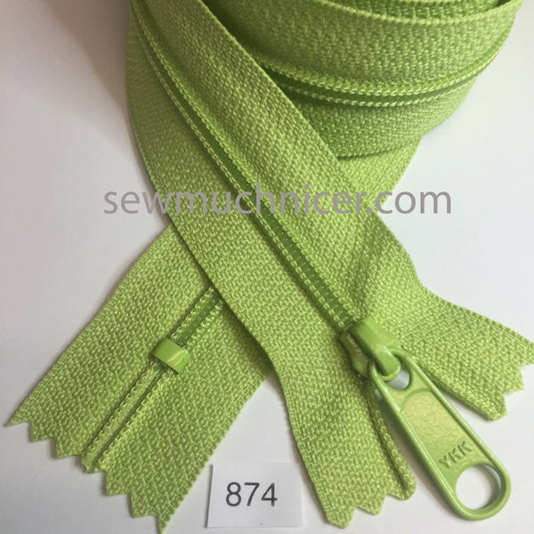 YKK zip #4.5 handbag pull 30in 0874 Green Apple IN STOCK