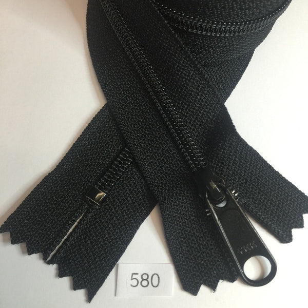 YKK zip #4.5 handbag pull 30in 0580 Black IN STOCK