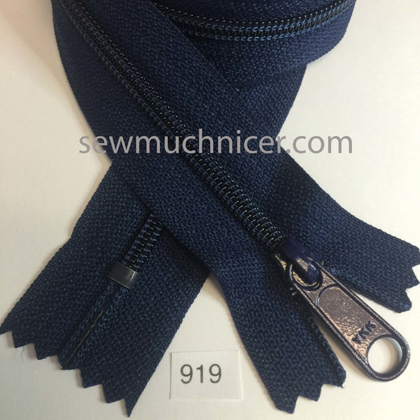 YKK zip #4.5 handbag pull 30in 0919 Navy IN STOCK