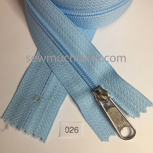 YKK zip #4.5 handbag pull 30in 0026 Baby Blue IN STOCK