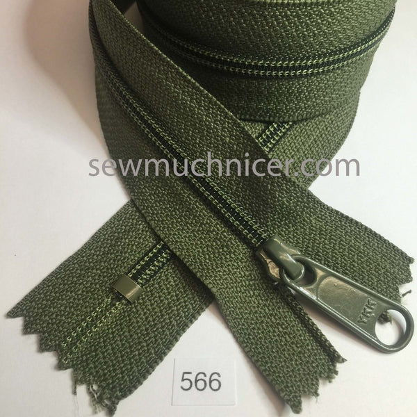 YKK zip #4.5 handbag pull 30in 0566 Cedar Green IN STOCK