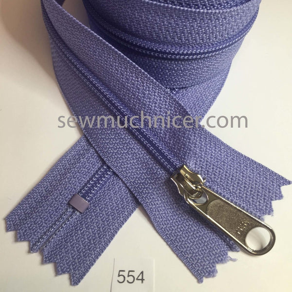YKK zip #4.5 handbag pull 30in 0554 Lilac IN STOCK